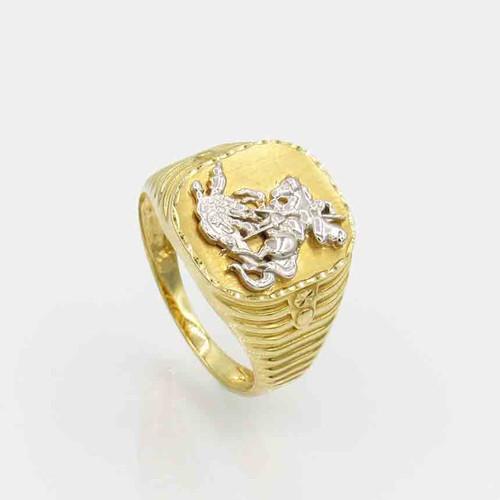 Anel de ouro 18k são jorge