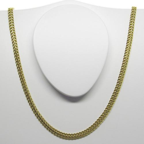 Corrente de ouro 18k lacraia 4.95mm com 70cm
