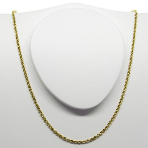 Corrente de ouro 18k corda 2.20mm com 60cm