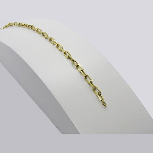 Pulseira de ouro 18k cartier maciça 3.12mm com 19cm