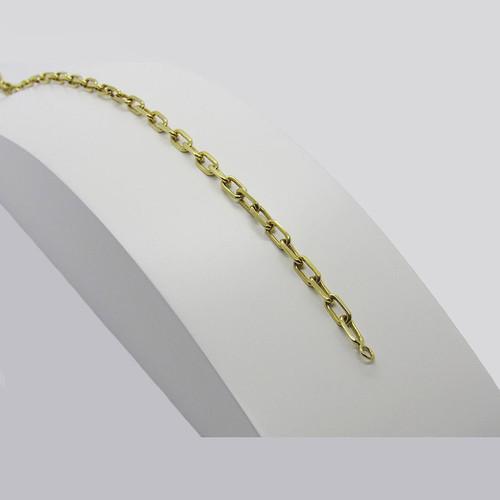 Pulseira de ouro 18k cartier maciça 3.12mm com 20cm