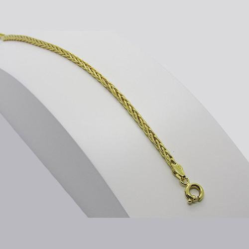 Pulseira de ouro 18k palmeira 2.75mm com 21cm