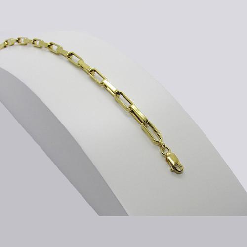 Pulseira de ouro 18k cartier alongada 4.50mm com 23cm