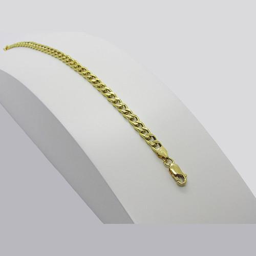 Pulseira de ouro 18k grumet 4.20mm com 22cm