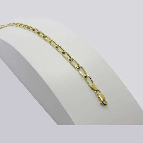 Pulseira de ouro 18k grumet alongada 4.50mm com 19cm