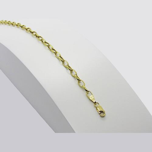 Pulseira de ouro 18k bruminha 3.50mm com 22cm