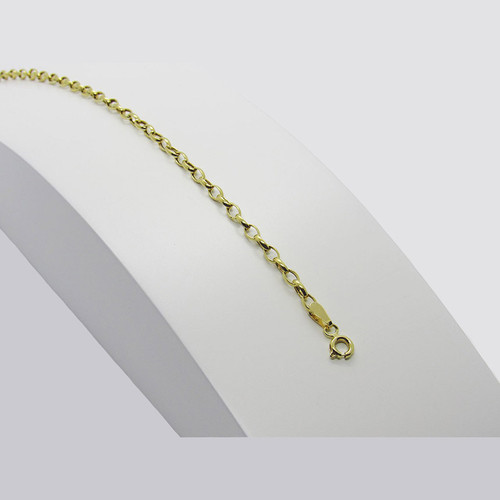 Pulseira de ouro 18k bruminha 2.60mm com 19cm