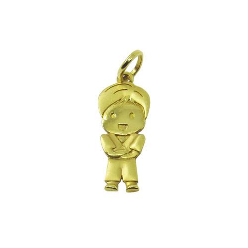 Pingente de ouro 18k menino 22,02mm