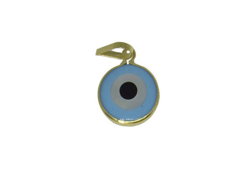 Pingente de ouro 18k madrepérola olho grego 10,0mm