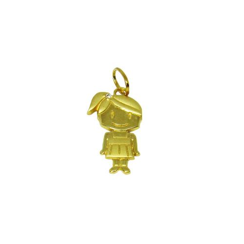 Pingente de ouro 18k menina 19,42mm