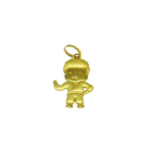 Pingente de ouro 18k menino 18,89mm