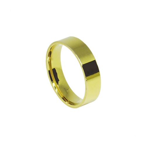 Aliança de ouro 18k anatômica maciça lateral reta 5mm