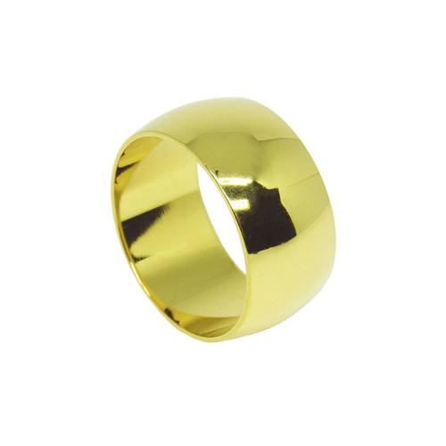 Aliança de ouro 18k anatômica maciça 10mm
