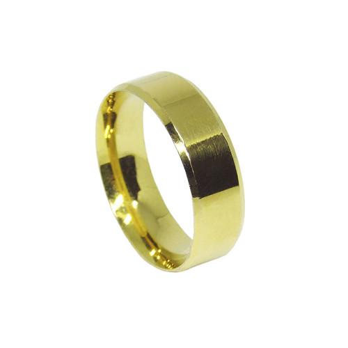 Aliança de ouro 18k anatômica maciça 5,4mm