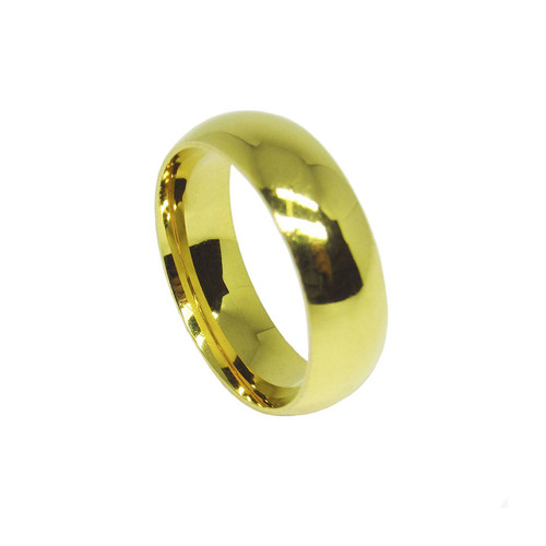 Aliança de ouro 18k anatômica maciça 6,0mm