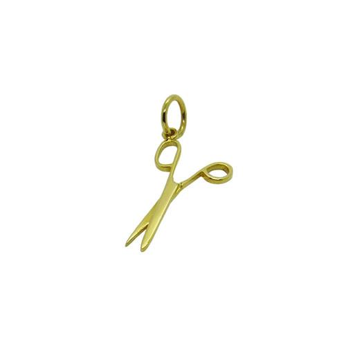 Pingente de ouro 18k tesoura 27,65mm
