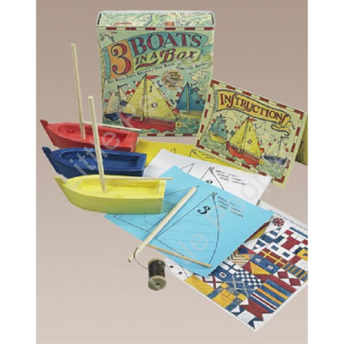 Three Boats in a Box Craft Activity