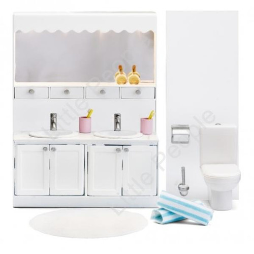 Lundby  Dolls Houes Funiture Small Land Classic Bathroom Set NEW