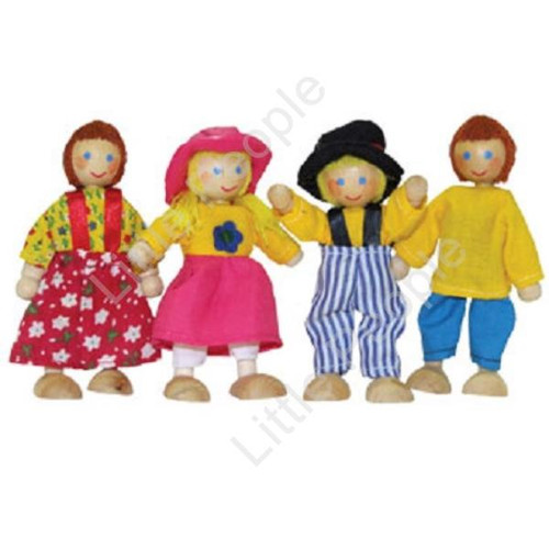 WOODEN FAMILY PEOPLE DOLLS FOR 1:12th SCALE HOUSE NEW 4