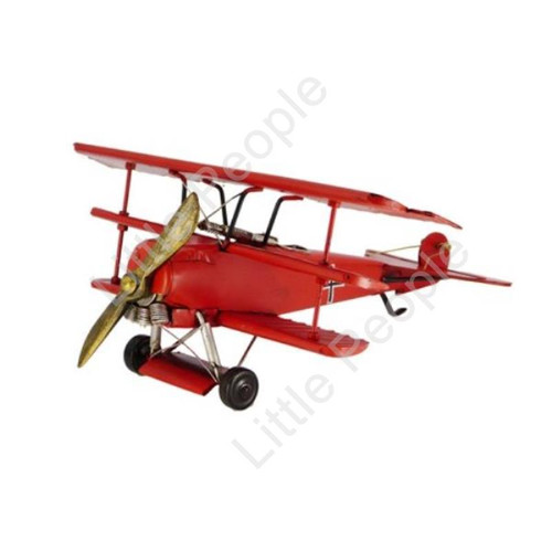 Red Baron German Tripple Winged  Fighter Plane  Classic 35cm
