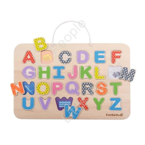 EverEarth Magnetic Alphabet Puzzle Kids Pretend Play Eco-Friendly