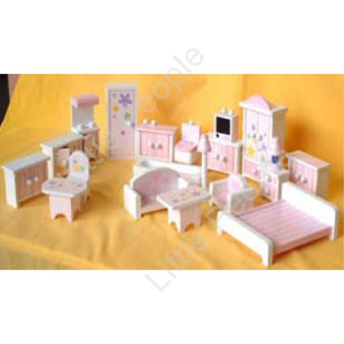 Doll house Furniture 20 Pieces Daisy pattern 1:12th Scale Set