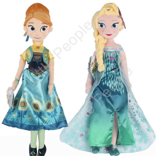 Disney 50cm Elsa Anna Plush Doll Toy