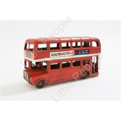 SMALL RED TIN MODEL OF A LONDON ROUTE MASTER BUS COLLECTABLE