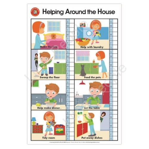 Helping Around The House Poster