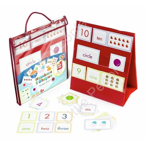 Meadow kids Numbers and Shapes Pocket Chart Educational