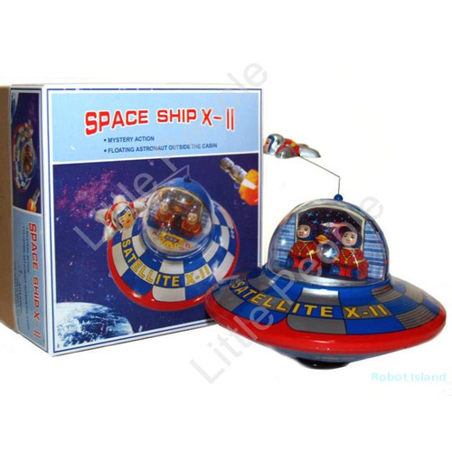 Flying Saucer X-11 Tin Toy Windup