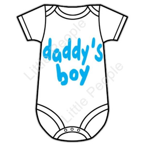 Size 00 Daddy's Boy 3-6mths Baby Grow Suit