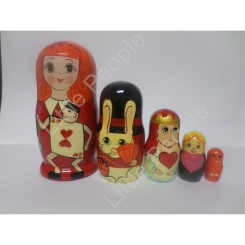 Russian Doll Wooden Matryoshka Babushka  - Hearts