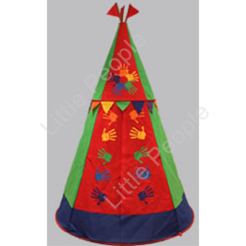 Tent Kids Cubbie Tent for Kids -  Rainbow Tepee