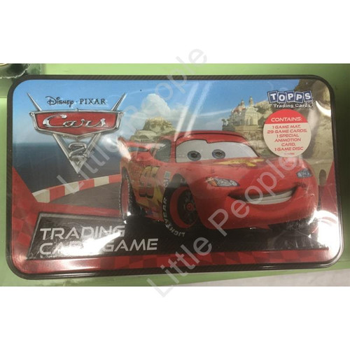 DISNEY CARS 2 TRADING CARDS TOY GAME TIN BOOSTERS