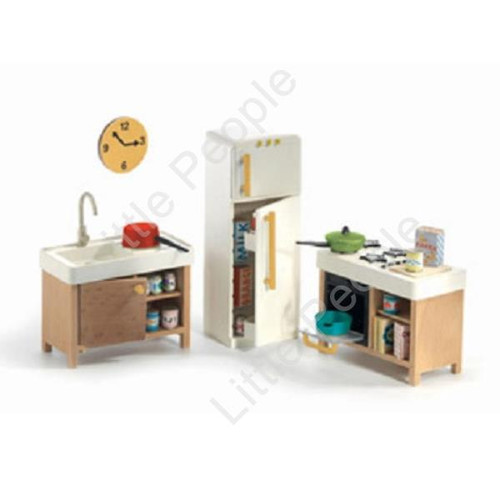Djeco Modern Doll House Furniture Set- The Kitchen  last one