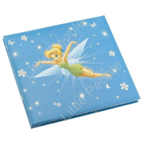 Disney Blue Tinkerbell Scrapbook Deluxe Post Bound Album 8X8 10 Pages Gift Box