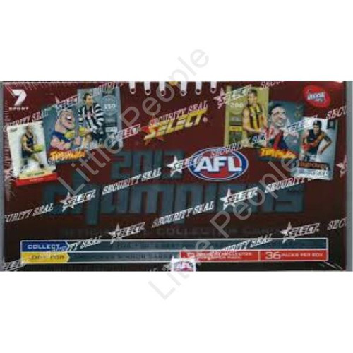 2013 AFL CHAMPIONS TRADING CARDS BOX 36 PACKETS SEALED