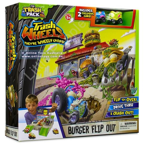 Trash Pack - Trash Wheels - Burger Flip Out New Kids Toy