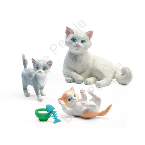 Djeco Modern Doll House Furniture Set - Dolls House Cats