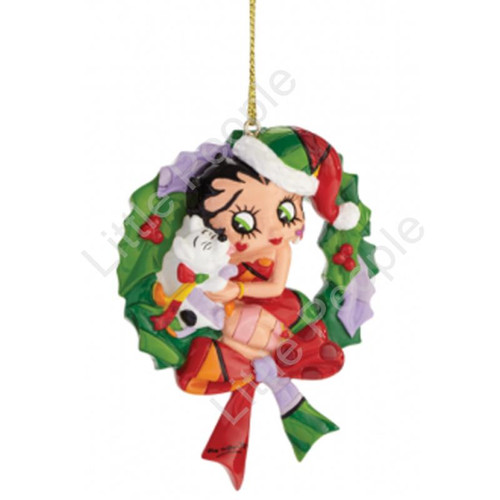 Betty Boop By Britto Christmas Wreath Ornament Retired
