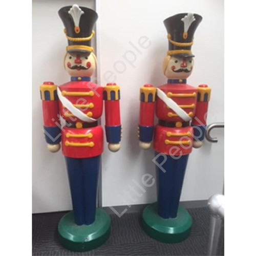 6.3 ft Toy Soldier Fiberglass Christmas Decoration (Ex shop Display ) for Both