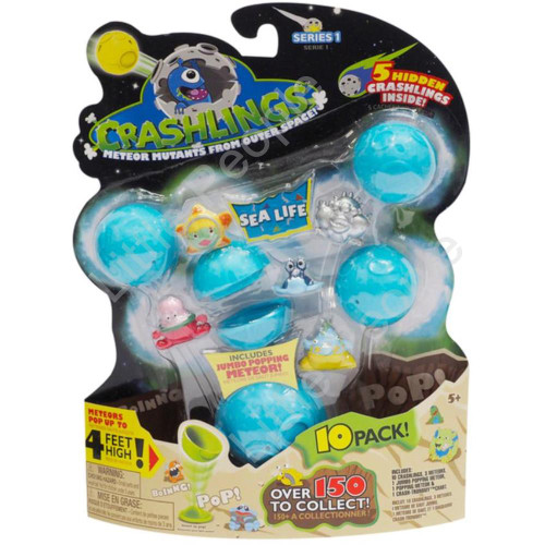 Crashlings Meteor Mutants From Outer Space - 10 Pack Sealife