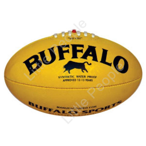BUFFALO SPORTS  Soft Touch PVC Full Size 28cm L Yellow Aussie Rules Football