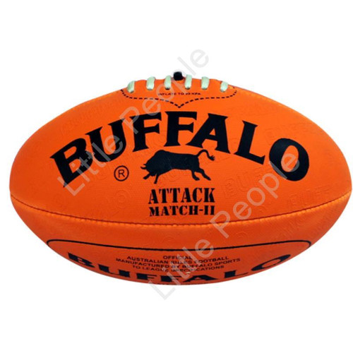 BUFFALO SPORTS  Soft Touch PVC Full Size 22cm Orange Aussie Rules Football