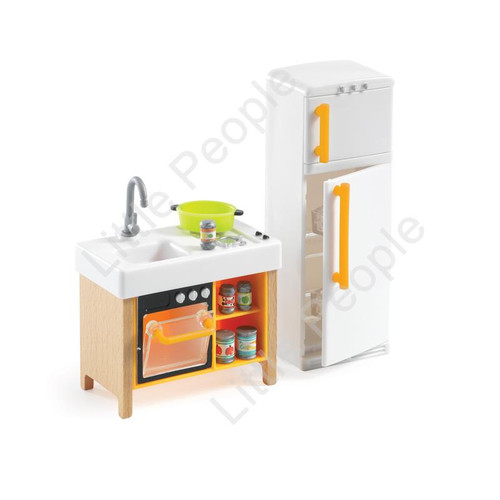 Djeco Modern Doll House Furniture Set - The Compact Kitchen