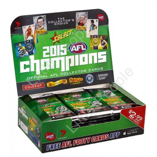 2015 AFL CHAMPIONS TRADING CARDS BOX 36 PACKETS SEALED