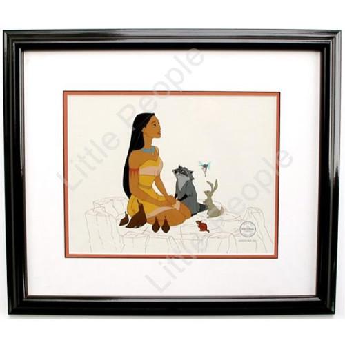 Disney Pocahontas Framed Cartoon Artwork Sericel Certification