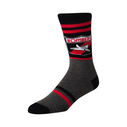 Essendon Bombers Mens Retro Shield Socks
