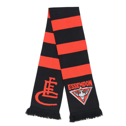 Essendon Bombers Premium Supporter Scarf  Hooped